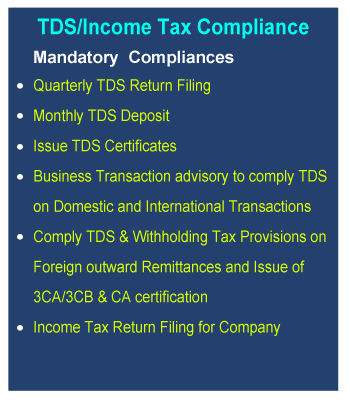TDS/Income Tax Compliance